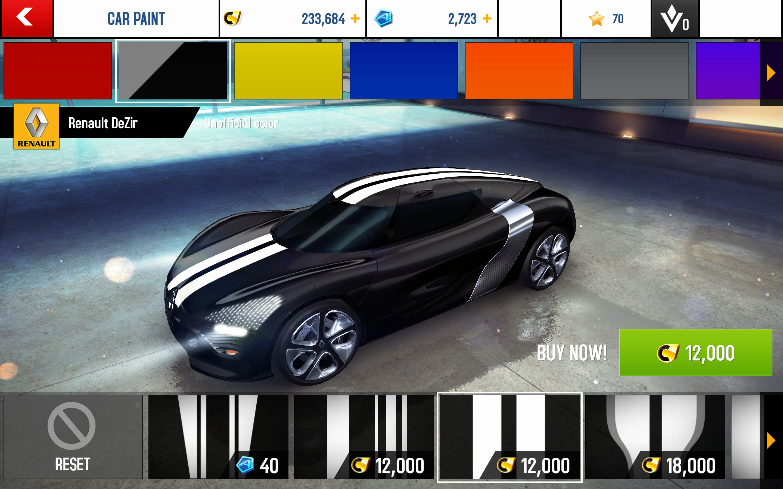 Renault dezir asphalt 8