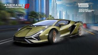 Asphalt 8 - Anniversary Lamborghini Sian FKP 37