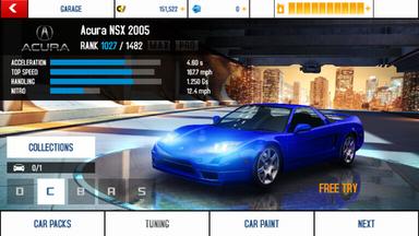 Acura NSX 2005 base stats