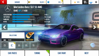 Mercedes-Benz SLK 55 AMG stock
