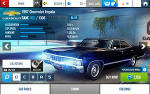 A8 1967 Impala stats (S KMH v4.3)
