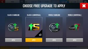 Free Upgrades Choice Screen