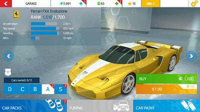 AN Ferrari FXX Evoluzione stock