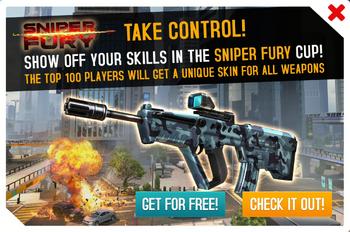 Sniper Fury Cup ad