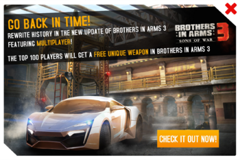 Brothers In Arms 3 Multiplayer Cup ad