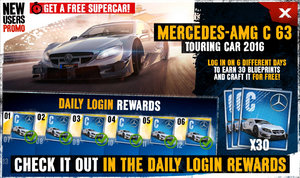 Daily Login new users promo