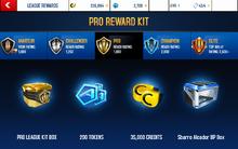 Alcador Pro League Rewards