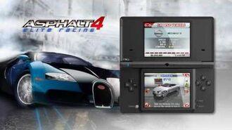 Asphalt 4 Elite Racing DSi Ware trailer