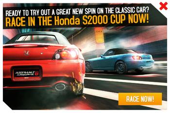 Cup ad Honda S2000