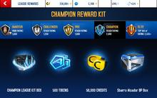Alcador Champion League Rewards