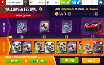 2019 Halloween Festival Rewards