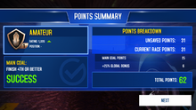 MPL Points Screen