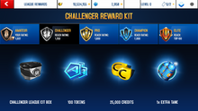 TVR Challenger League Rewards