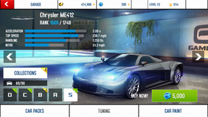 Chrysler ME412 base stats