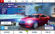 A8 Mazda 6 stats (MP KMH)