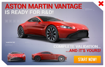 Aston Martin Vantage 2018 R&D Promo
