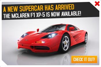McLaren F1 XP-5 ad