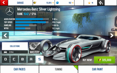 Silver Lightning stats (S)