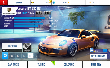 911 GT3 RS stats (MP KMH)