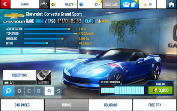 A8 Corvette GS stats (MPTKET KMH v4.1)