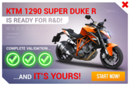 KTM 1290 Super Duke R R&D Promo