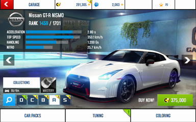 A8 GT-R Nismo stats (S KMH)
