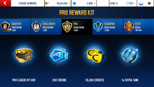 TVR Pro League Rewards
