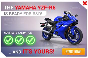 Yamaha YZF-R6 R&D Promo