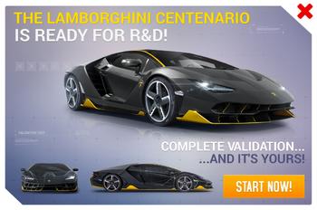 Lamborghini Centenario R&D Promo