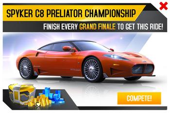 Spyker C8 Preliator Championship Promo