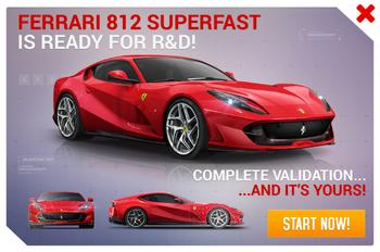 Ferrari 812 Superfast R&D Promo