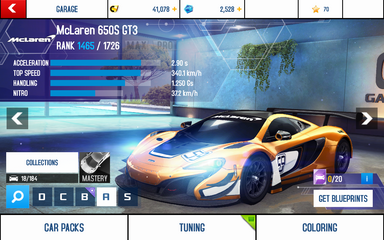 650S GT3 stats (S)