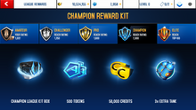 TVR Champion League Rewards