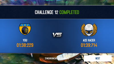 Ace Race win