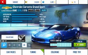 A8 Corvette GS stats (MP MPH)