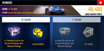 EDD Rewards Screen