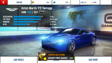 Aston Martin V12 Vantage maxed out