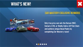Car mastery exclusive rewards