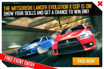 Cup ad Mitsubishi Lancer Evolution X