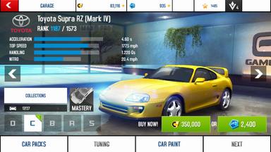 A8A Toyota Supra RZ (Mark IV) stock
