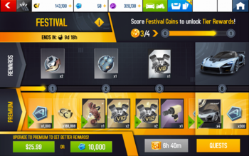 A8 Senna Festival Rewards
