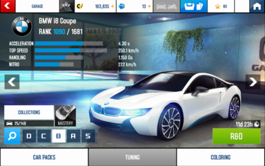 A8 i8 Coupe stats (S KMH R&D)