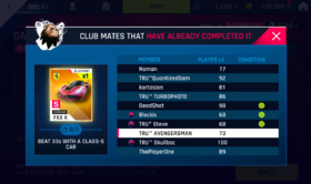 Club Rewards - Race