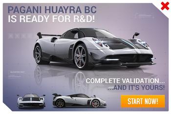 Pagani Huayra BC R&D Promo