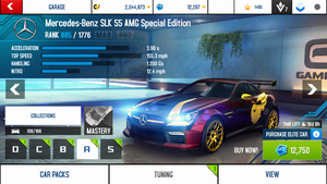 A8A Mercedes-Benz SLK 55 AMG Special Edition stock + price