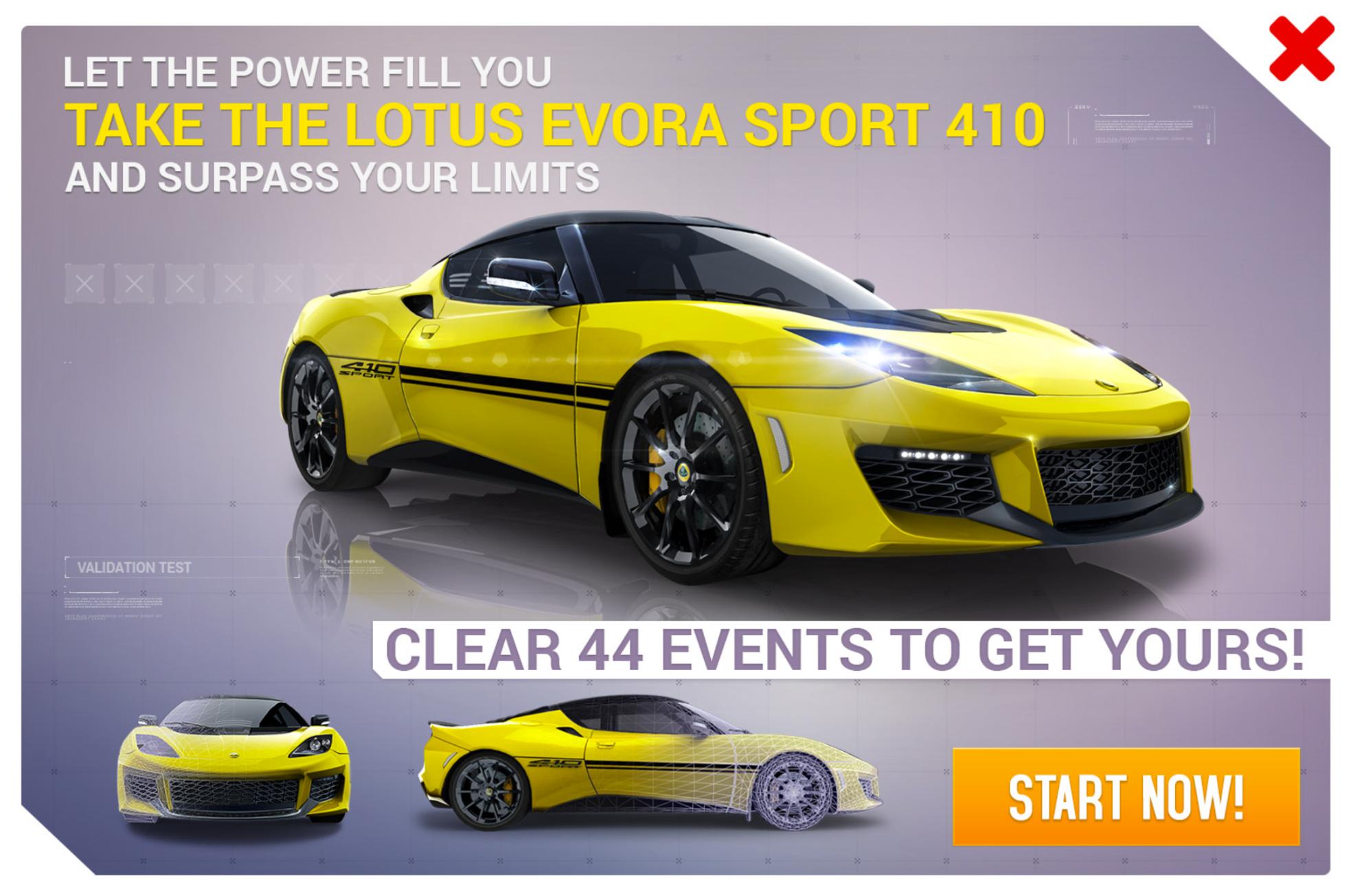 Research & Development/Lotus Evora Sport 410 | Asphalt Wiki | FANDOM ...