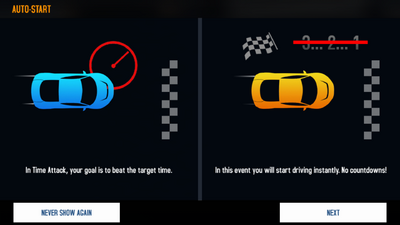 Time Attack introduction screen as of Munich Update
