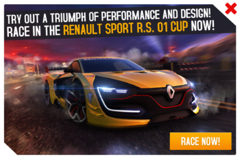 Cup ad Renault Sport RS 01