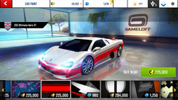 SSC Ultimate Aero XT Decal 13