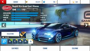 A8 Veyron stats (MP KMH)
